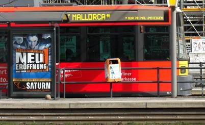 Die Straßenbahn der BVG fährt jetzt auch nach Mallorca