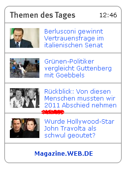 News vom 14.12.2010